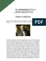 Vattimo Gianni - Razon Hermeneutica Y Razon Dialectica