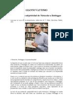 Vattimo Gianni - La Crisis de Subjetividad de Nietszche a Heidegger