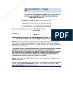 Redhum Nic Gobierno de Nicaragua Reforma Al Reglamento 53 -2000