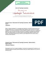 Lacan, Jacques - Diccionario de Topologia Lacaniana