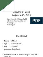 Oligohidramnion + Suspect CPD