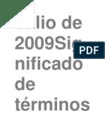 Julio de 2009Significado de términoscitológicos