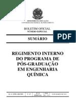 Regimento Do Programa de Pos-graduacao Eng Quimica