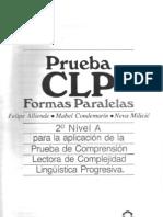 prueba CLP 2º NIVEL A