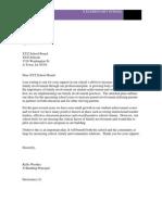 letter ro school board