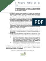 Declaración sobre paro indefinido en la ULS