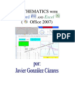 Mathematics with Word y Excel Microsoft 2007