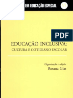 LIVROEducação inclusiva, rosana glat