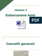 ECDL Modulo 3 - Elaborazione testi