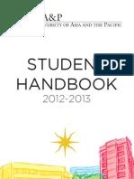 UA&P Student Handbook 2012-2013