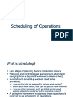 7. Scheduling of Operations