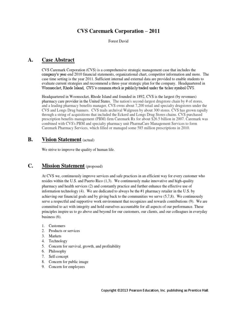 Cvs Case Study Pharmacy Pharmaceutical