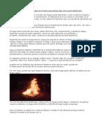 El Elemento Fuego en Los Rituales Sirve Tanto Para Atraer Algo Como Para Desterrarlo