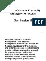 BCCM - Session 12 - Power Point