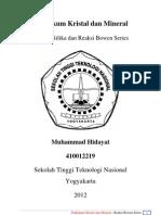 Mineral Silika Dan Reaksi Bowen Series