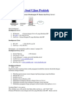 Pembahasan Soal Ujian Praktek tkj membuat pc router dan proxy server