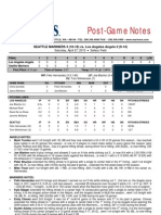 04.27.13 Post-Game Notes