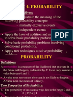 Topic 4 - Probability (Old Notes)