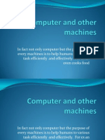 Computer compare to other machines