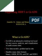 Grads and Hdf5