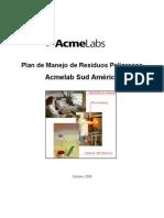 9ed Plan de Manejo de Residuos Peligrosos AcmeLabs