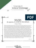 Balada a Corte Na Roca Canto e Piano Cifra