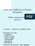 CE154 - Lecture 3 Reservoirs, Spillways, & Energy Dissipators