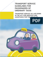 The Act for Services and Assistance for the Disabled -Ordinary Taxis