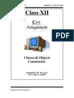 Assignment Classes Constructor