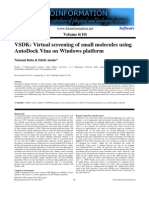 Virtual Screening of Small Molecules Using AutoDock Vina