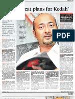 BN Has Great Plans for Kedah