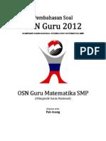 Pembahasan Soal OSN Guru Matematika SMP 2012 Tingkat Provinsi.pdf