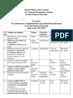 Planul de Monitorizare a Implem. Curr. 2012-2013