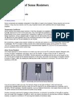 Current Sensing using resistors