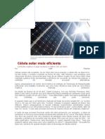 Célula solar mais eficiente