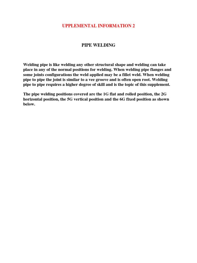 sc 1 st  Scribd & Upplemental Information 2 Weld | Welding | Pipe (Fluid Conveyance)