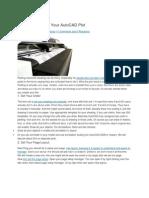 Steps Preparing Your AutoCAD Plot