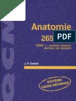 anatomie 265 qcm  tome 1  anatomie gnrale  anatomie des membres