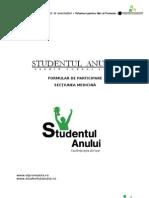 Formular de Aplicare Studentul Anului - Medicina