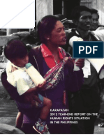 Karapatan 2012 Human Rights Report