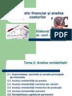 Diagnostic financiar şi analiza costurilor - 2 Cahul