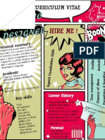 Graphic Designer Comic CV resume Design