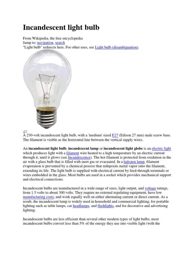 Incandescent and Flourescent | Incandescent Light Bulb | Light for types of incandescent lamp  110zmd
