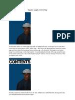 Tolu Awojobi AS Media Coursework - Final Contents Page Development