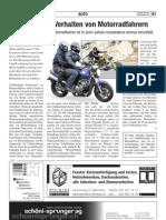 Studie zum Verhalten von Motorradfahrern