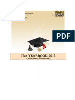 IBA YB 2013 Sponsorship Proposal