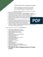 Pasos Para Registrarse en El FAOV Fondo de Ahorro Voluntario Para La Vivienda
