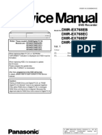 Panasonic DMR-EX768E Service Manual