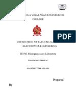 MP8085 Lab Manual