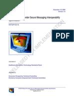 HITSP V1.0 2008 IS12 - Patient - Provider Secure Messaging